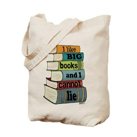 CafePress - I Like Big Books - Natural Canvas Tote Bag, Cloth Shopping Bag Big Accessories Canvas Tote