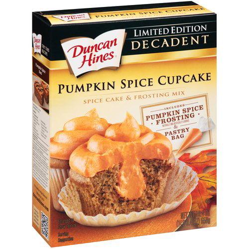 Duncan Hines® Decadent Pumpkin Spice Cupcake & Frosting Mix 19.4 oz. Box
