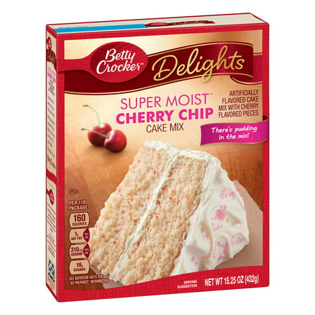 Banana Cake Mix - (2 pack) Betty Crocker Super Moist Cherry Chip Cake Mix, 15.25 oz