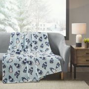 Beautyrest Oversized Plush Printed Microlight Heated Throw