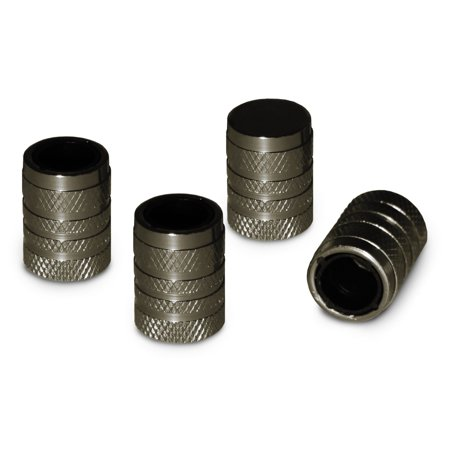 Slime Tire Valve Stem Caps - Gunmetal - - Leaking Valve Stem