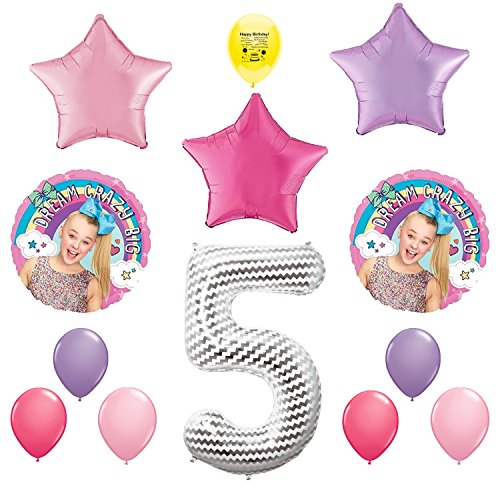JoJo Siwa Party Supplies 5th Birthday Party Balloon Decoration Kit
