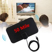 1080P HDTV Antenna with 13ft Long Cable Indoor Amplified 50-Mile Range HD Digital TV Antenna