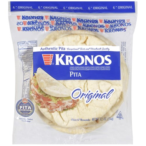 Kronos Original White Pita Flat Bread, 5 ct
