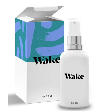 Wake Skincare Eye Gel - Hydrating Eye Serum for Puffy Eyes, Dark Circles, Eye Bags, Crows Feet and Wrinkles – Vitamin E – Collagen - 30ml Anti Ageing Eye (Best Eye Serum For Crows Feets)