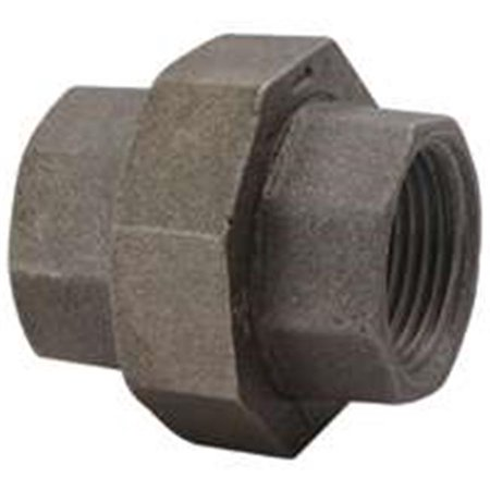 34B-1-2B Malleable Black Iron Ground Joint Union .50 - Black Ground Joint Union