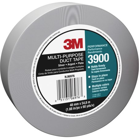 3M, MMM3900, Multi-purpose Utility Grade Duct Tape, 1 Roll, Silver