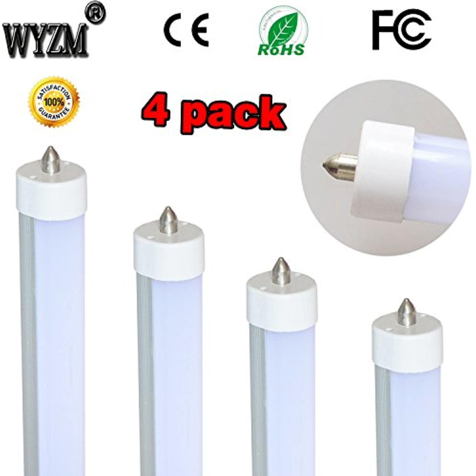 "WYZM 4-Pack of 40Watt T12 96"" 8ft LED Tube,120V 277V Inpu..."