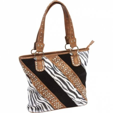 Casual Outfitters Ladies Fashion Zebra Purse (Zebra Print Shoulder Bag)