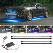 LEDGlow 4pc Wireless Million Color Underbody Underglow Lighting Kit