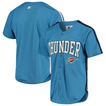 best service fdcfe 820ae Oklahoma City Thunder Starter Playmaker Baseball Jersey Shirt - Blue