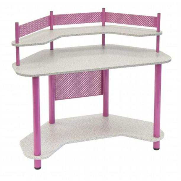 Study Corner Desk Pink Com, Pink Corner Desk