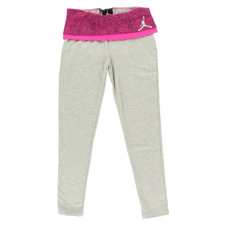 Nike Jordan Girl - Nike Jordan Girls Yoga Leggings Heather Grey Pink