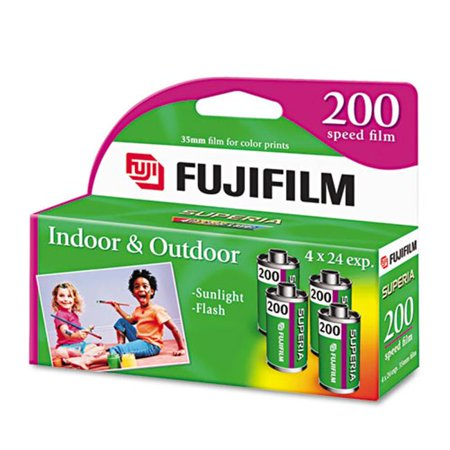 Fuji Photo Film Usa, Inc. 15717646 Superia 35mm Color Print Film, 200 ASA, 4 24-Exposure Rolls/Pack