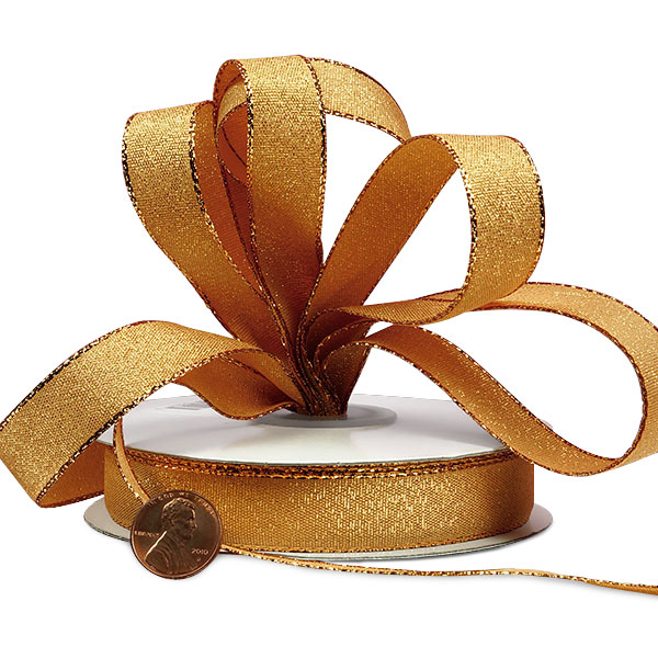 """5/8"""" X 25 Yards White Shimmery Ribbon  by Paper Mart"""