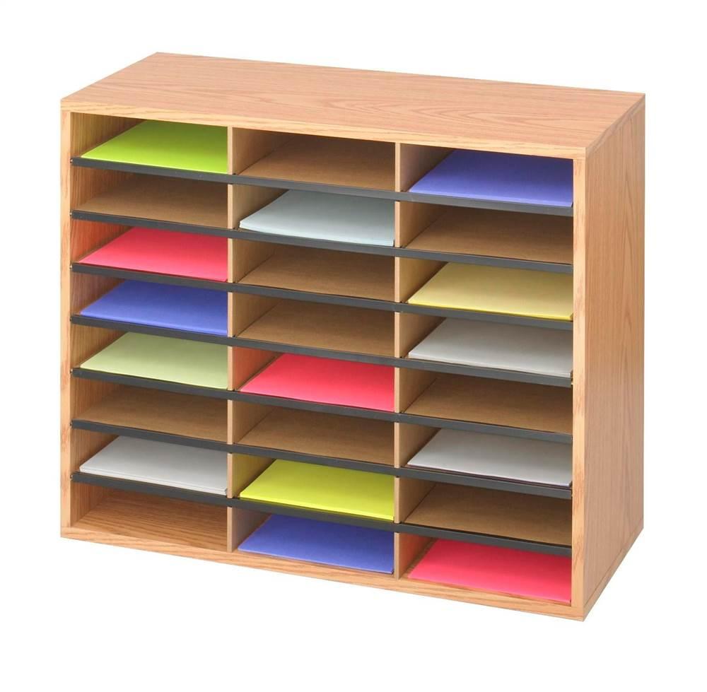 Corrugated 24 Compartment Literature Organizer by Safco