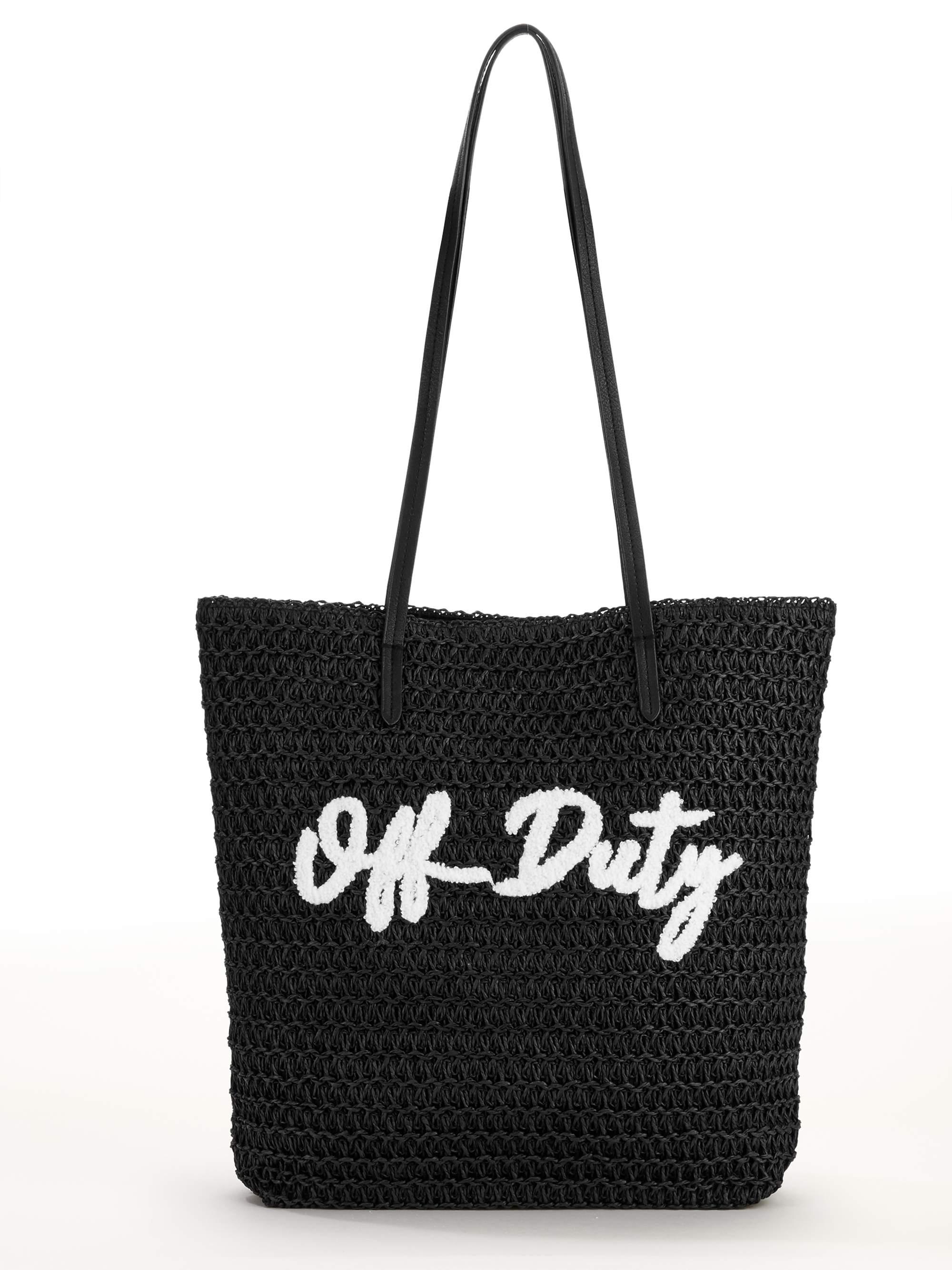 Time and Tru Packable Straw Tote