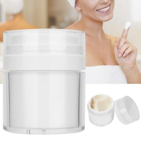 YLSHRF Cream Bottle,Acrylic Vacuum Empty Bottle Jar Moisturizing DIY Face Cream Gel Container Bottle 50g, Skin Care Gel Container Face Moisturizing Gel