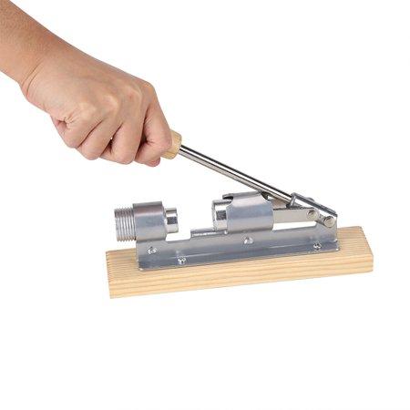 (Dilwe Mechanical Walnut Cracker Nut Opener Kitchen Tools Desktop Wood Base & Handle, Mechanical Nut Opener, Walnut Opener)