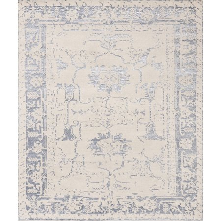 Silky Fusion - Pasargad Home Silk Fusion Collection Hand-Knotted silk and wool Runne