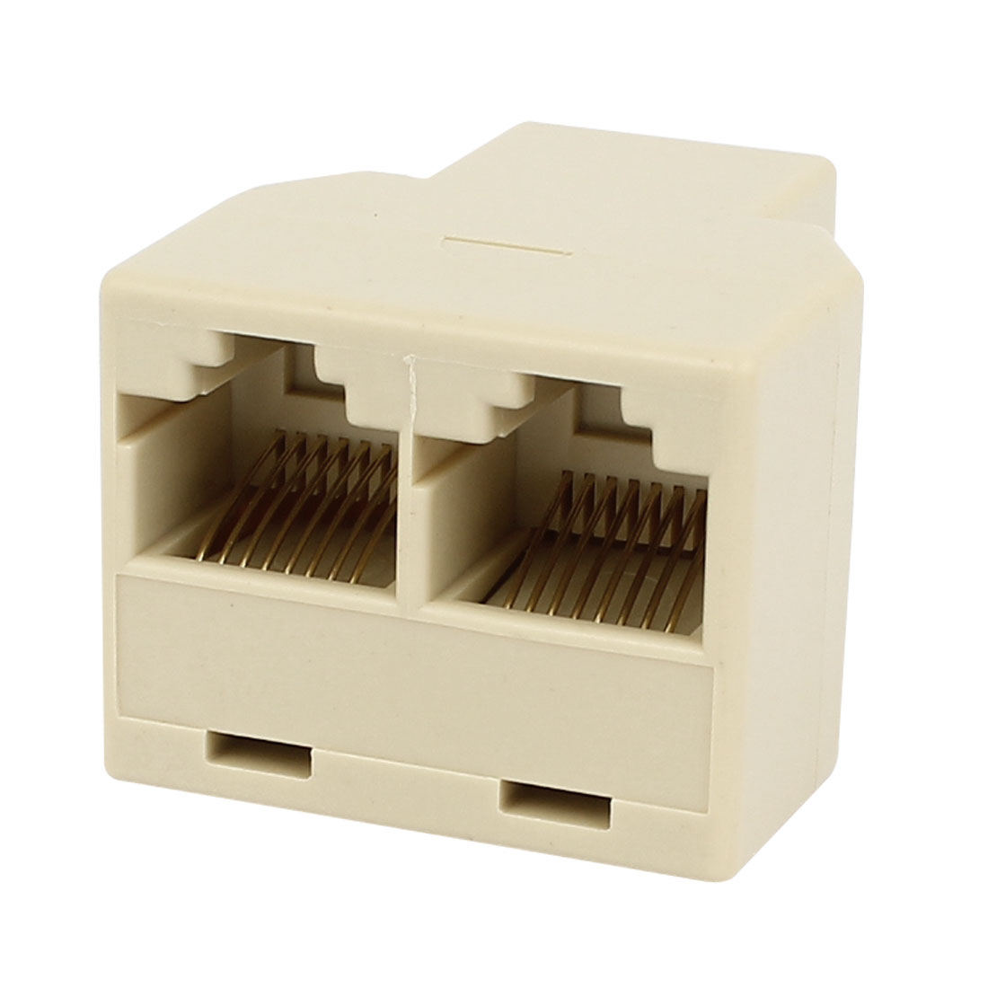 RJ45 8P8C 3 Ports Female to Female Network ADSL Splitter Adapter Connector - image 2 de 2