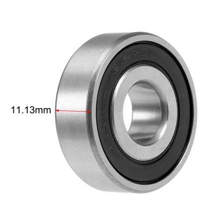 "1621-2RS Deep Groove Ball Bearing 1/2""x1-3/8""x7/16"" Sealed Chrome P6Z2 Bearings - image 1 of 4"
