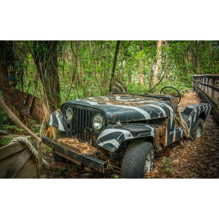 LAMINATED POSTER Adventure Vintage Off-road Tropical Jeep Old Poster Print 24 x 36