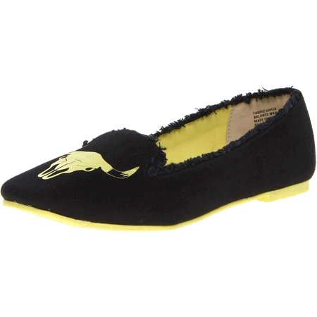 BC Footwear Women's Paint The Town Red Flat,Black Bull,9 M US