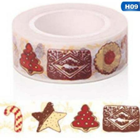 KABOER 1Pcs Christmas Washi Tapes Masking Tape Diy Decorative 1.5Cm * 5M Scrapbooking Adhesive Tape For Christmas Gift Wrapping ()