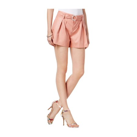 Callaway Hex Shorts - GUESS Womens Hex Belted Faux-Leather Casual Mini Shorts
