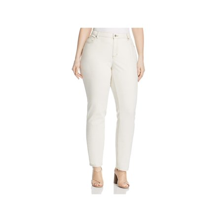 Eileen Fisher Womens Plus Organic Cotton High-Rise Skinny Jeans