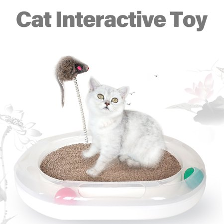 carno Cat Track Toy Ball Disk Circle Puzzle Tunnel with Cat Scratcher Catnip Tease Stick Pet Interactive Toy for Kittens Exercise - image 1 de 1