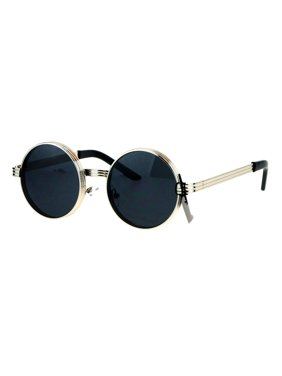 8996b017928a Product Image Steampunk Thick Metal Round Circle Lens Vintage Victorian  Sunglasses White Gold