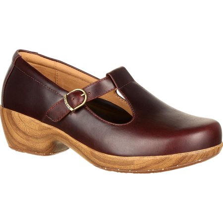 4Eursole Comfort 4Ever Women's Mahogany T-Strap Shoe](Shoes T Strap)