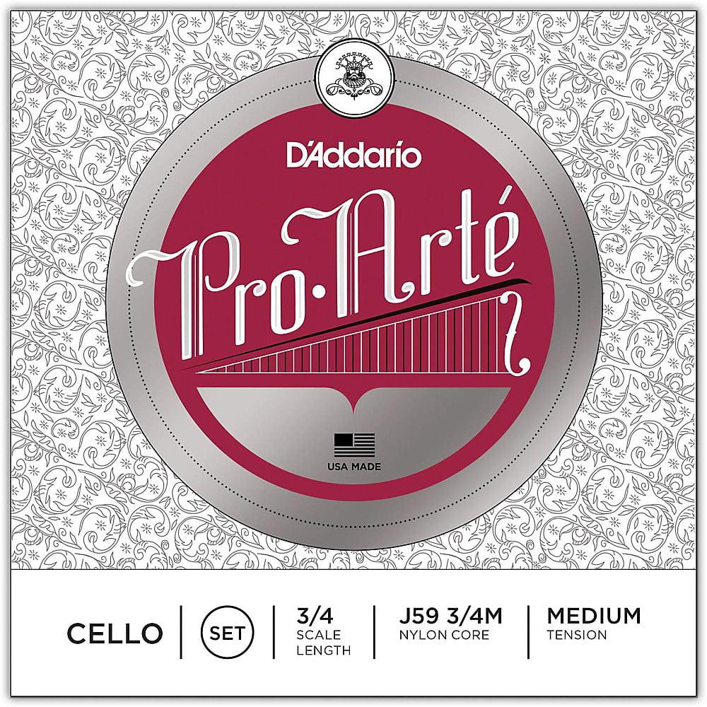D'Addario Pro-Arte Series Cello String Set 3 4 Size by D'Addario