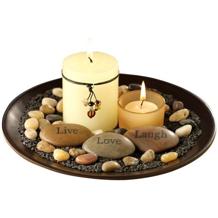 sentiments candle garden stones candles and rocks included by san