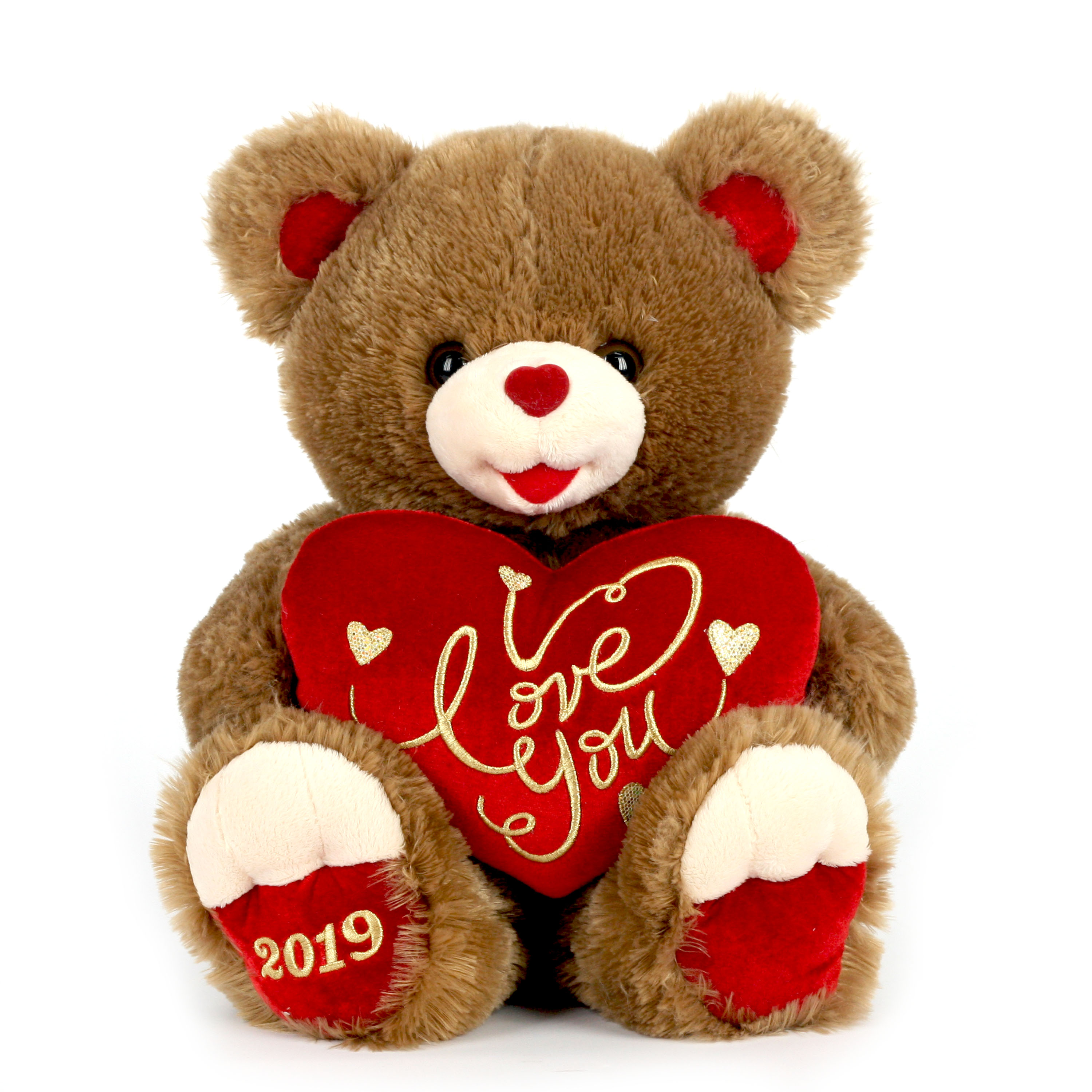 """Way To Celebrate 20"""" Sweetheart Teddy 2019- Brown"""