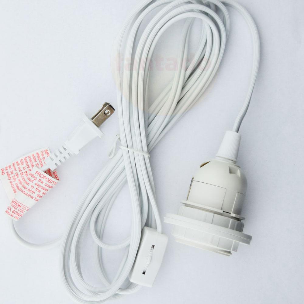 Fantado Single Socket White Pendant Light Lamp Cord for Lanterns, 11 FT, by PaperLanternStore