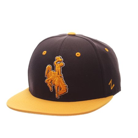 Wyoming Cowboys Official NCAA M15 Size 7 7/8 Fitted Hat Cap by Zephyr 114773