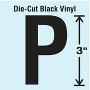 STRANCO INC DBV-3-P-10 Die Cut Letter Label, P, 10 Cards,PK10