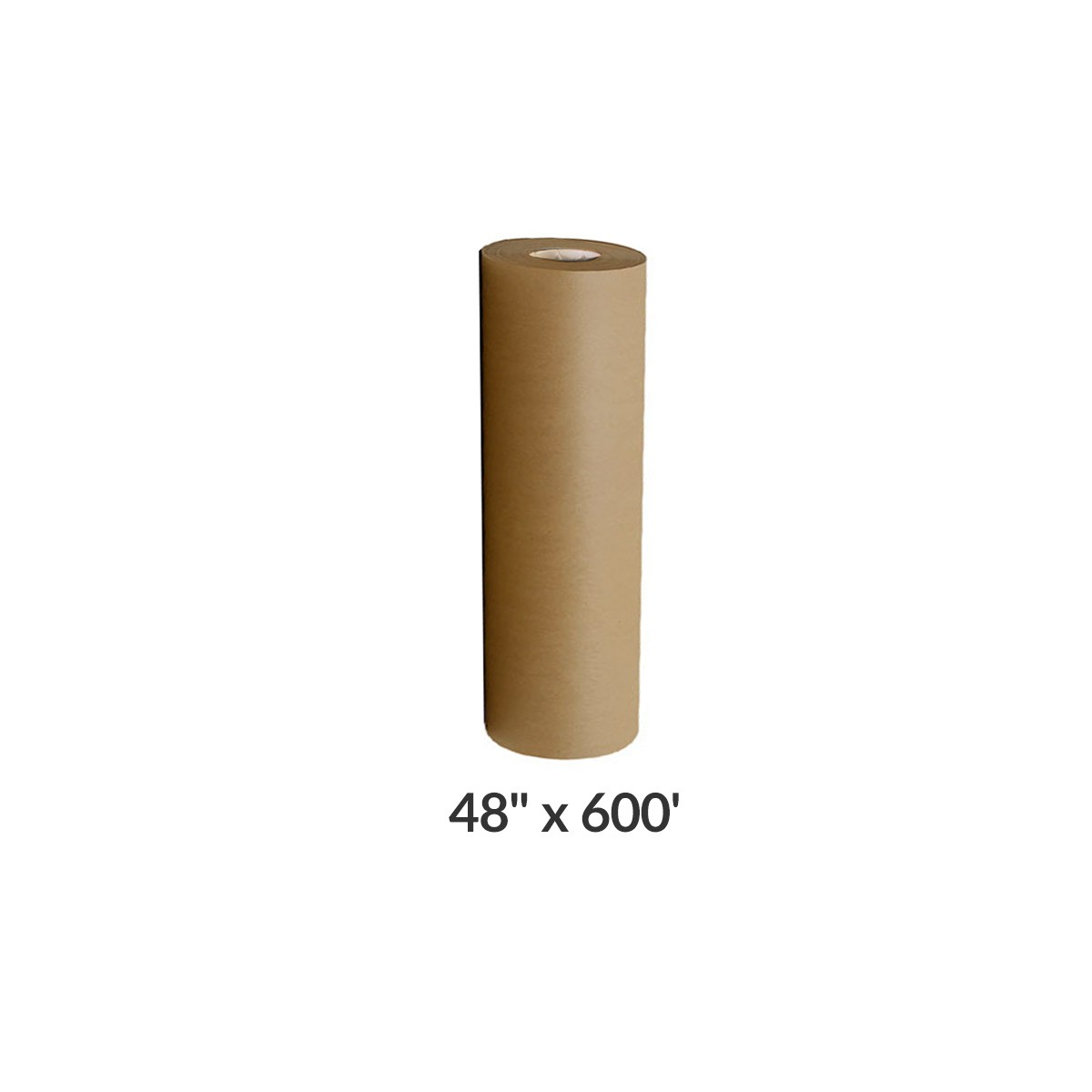 """kraft paper roll 600'x48"""" 50lb strength brown shipping wrapping"""