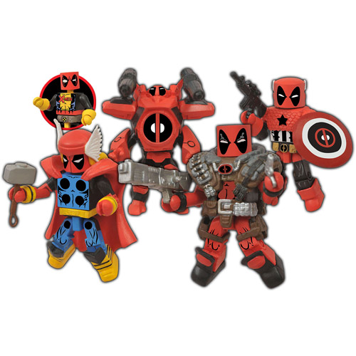 Diamond Select Toys Marvel Minimates Deadpool Assemble Box Set