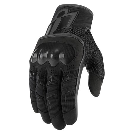 Icon Overlord Mens Motorcycle Gloves Black (Icon Super Duty Motorcycle Glove)