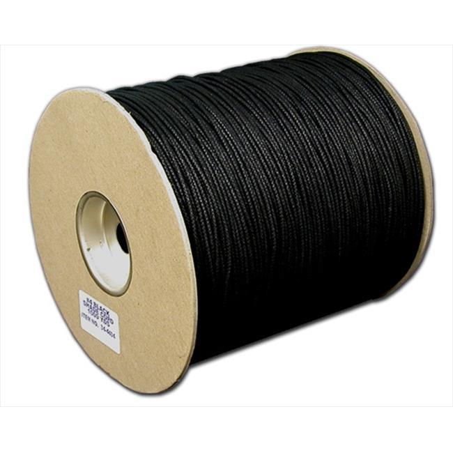T. W.  Evans Cordage 34-4404U . 125 inch x 1000 Yard Number 4 Black Cotton Shade Cord Unglazed