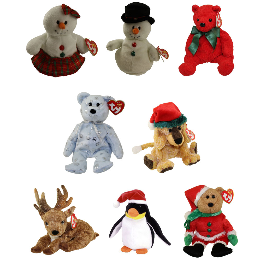 Ty Beanie Babies Beanies Holiday Christmas Coolstina the Snowman New With Tag