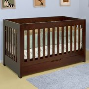 Babyletto Mercer 3-in-1 Convertible Wood Crib in Espresso