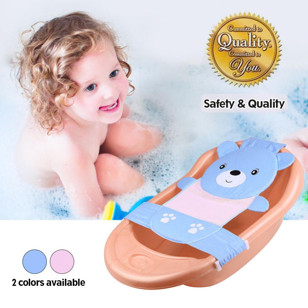 Baby Kids Bath Sling Net Shower Tub Seat with Hammock Mesh for Newborn Bathing