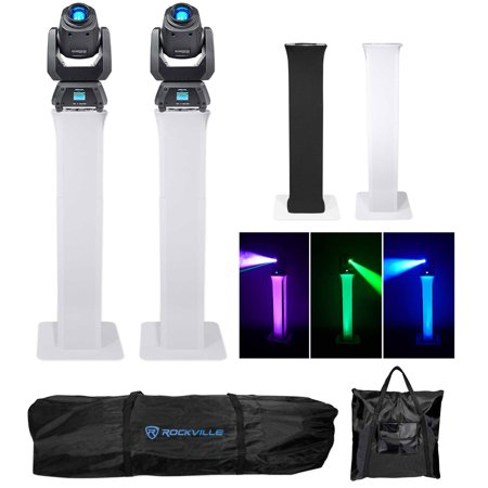 (2) Chauvet Intimidator Spot 260 Moving Heads+(2) Adjustable Totem Stands