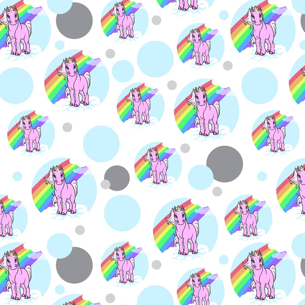 Unicorn Pony Rainbow Pink Premium Gift Wrap Wrapping Paper Roll Pattern