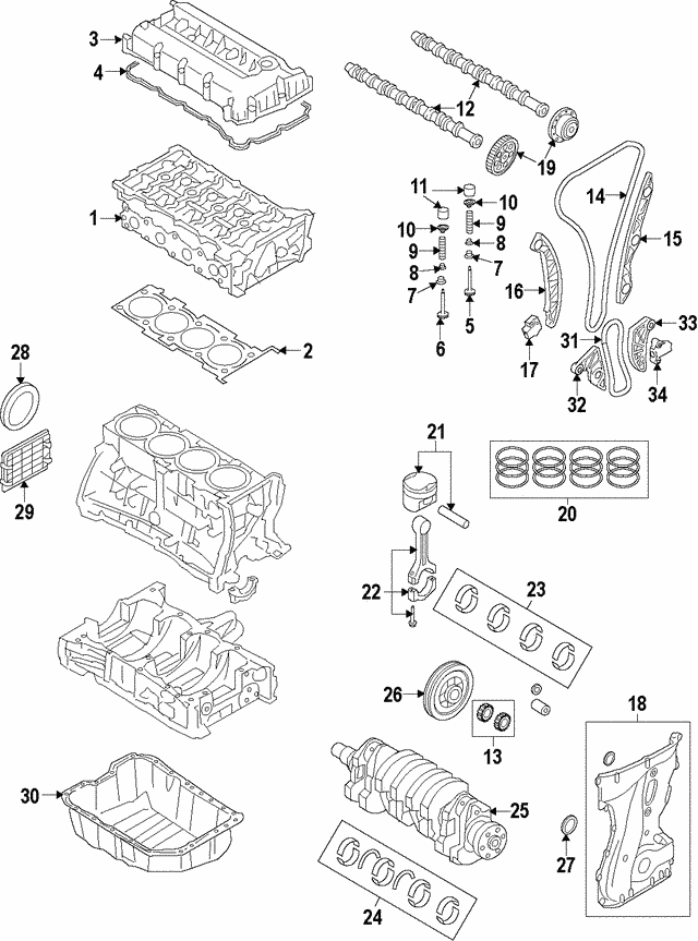 Chains Genuine Hyundai 24431-2G101 Timing Chain Guide Replacement ...